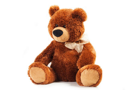 toy teddy bear isolated on white