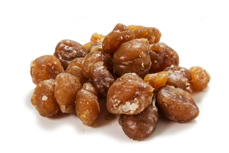 glace: marrons glaces on the white background