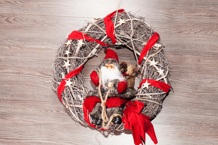 decoration for christmas with santa claus
