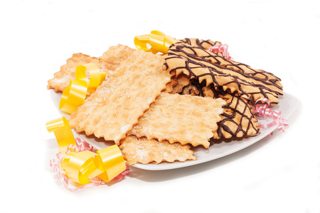 Italian pastries for the carnival festivities photo