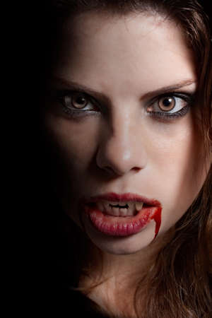Vampire with the bloody teeth