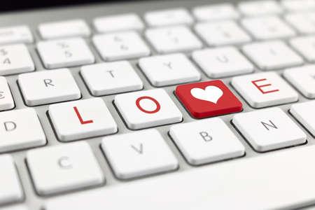 keyboard with written love photo