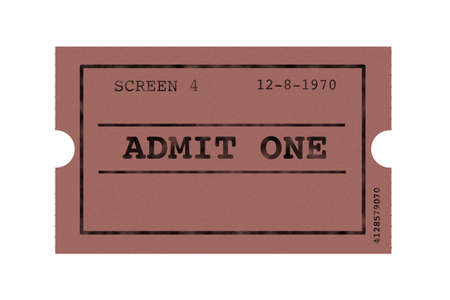 booked: Drawing of one old ticket cinema Stock Photo