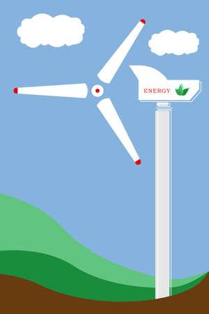 turbines: Stylized illustration of wind turbines