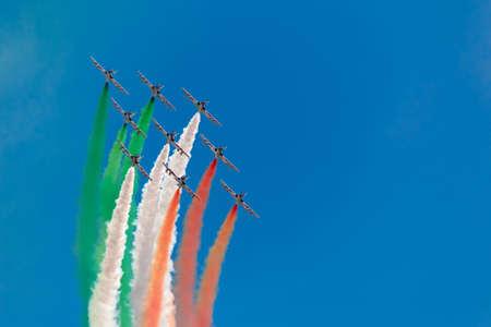 tricolors arrows Stockfoto