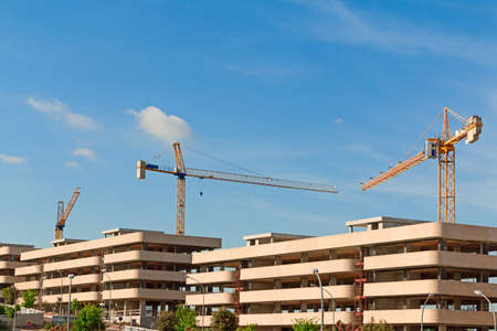 new building construction: Skeleton of buildings under construction with the crane