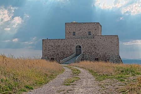 lucania: Castle of Monteserico in Genzano of Lucania