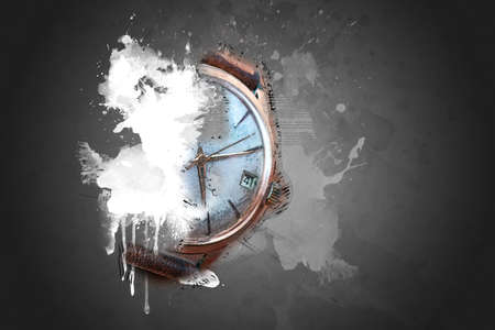 nuance: Old wrist watch with effect Stock Photo