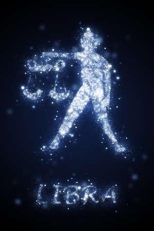 天秤座のサインのイラスト