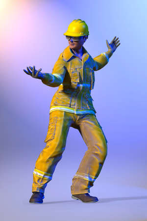 laborer: illustration of worker in dance