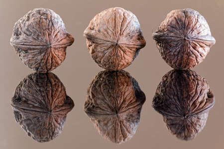 reflex: reflex of three walnuts