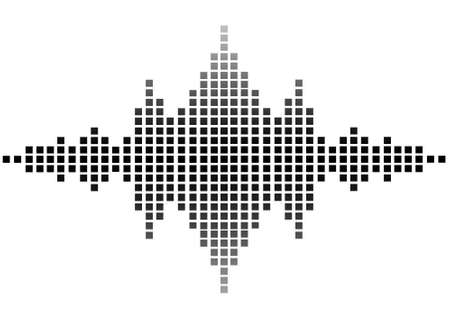 waves pattern: illustration of sound wave