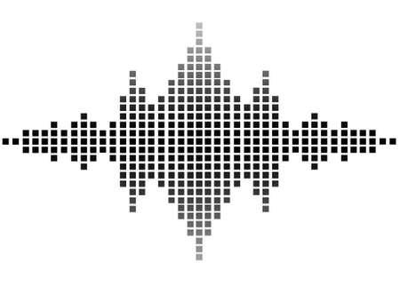 sonido: ilustración de la onda de sonido Foto de archivo
