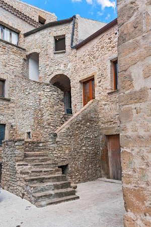 lucania: historic center of traditional Italian village
