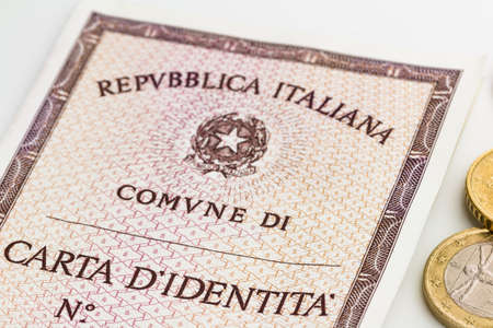 identity card: italian identity card