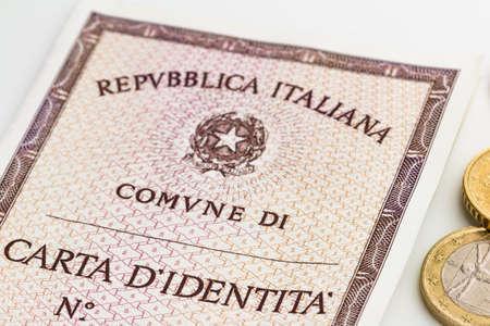 personalausweis: italienische Identitätskarte