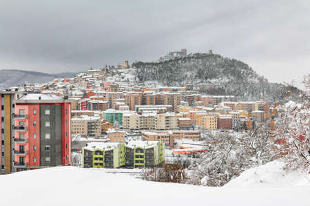 City view of snowy Campobasso