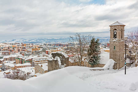 snowy urban landscape of Campobasso