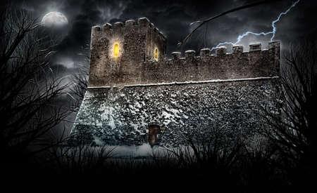 alte: scary castle Stock Photo