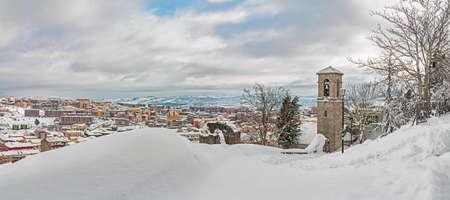 snowy panorama of Campobasso