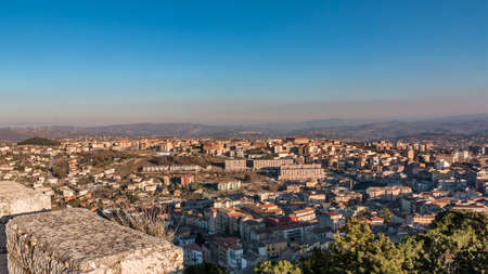 panorama of Campobasso in Molise Stock Photo