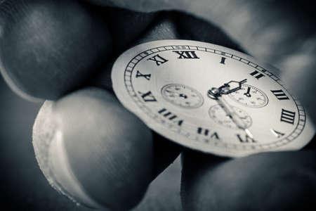 cronógrafo: Reloj en la mano Foto de archivo
