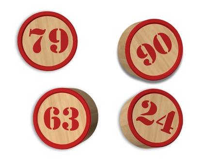 Numeri tombola 3D Stockfoto