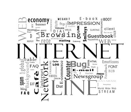 Internet woorden Stockfoto