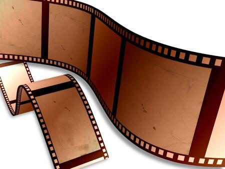 Vecchia pellicola niet correttamente esposta Stockfoto