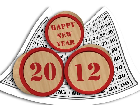 anno: happy new year 2012 Stock Photo