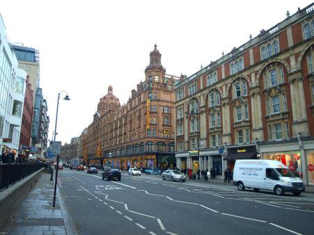 regent: London, England - 8 december 2011 - Regent Street headquarters of the famous Harrods store in London Editorial