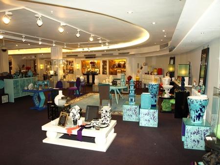 harrods: London, England - 8 december 2011- Harrods department store of the immense interior home decor Editorial