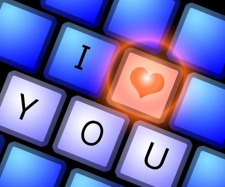 Love keyboard in Valentines Day photo
