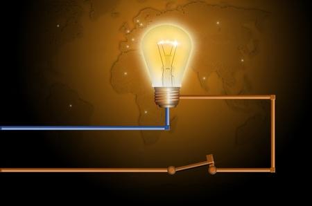 Simple electric circuit photo