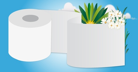 toilet paper Ilustração