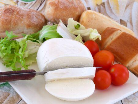 napoletana: pane e formaggio napoletana Archivio Fotografico