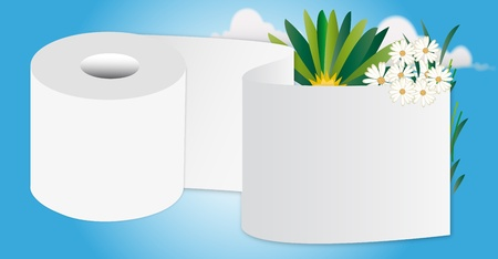 toilet roll: toilet paper Illustration
