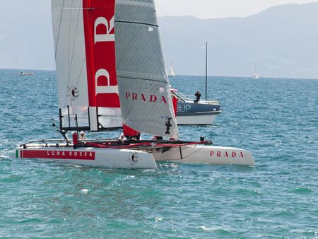 2012  race americas cup naples -Italy Stock Photo - 13154436