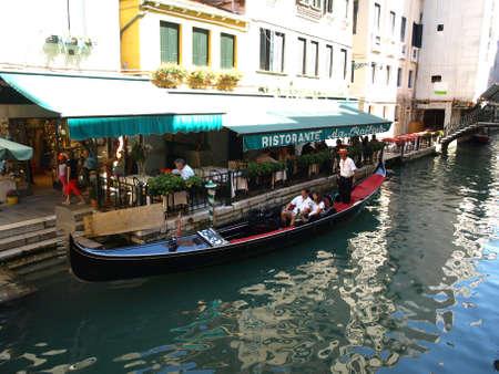 romantic gondola in Venice  summertime- italy Stock Photo - 13337366