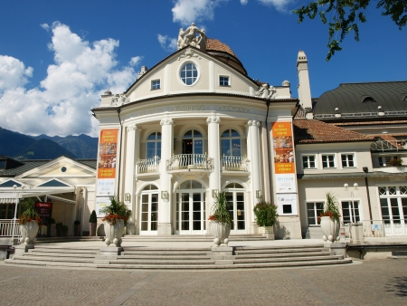 Kurhaus and Theater of merano city - bolzano - italy Stock Photo - 13795559
