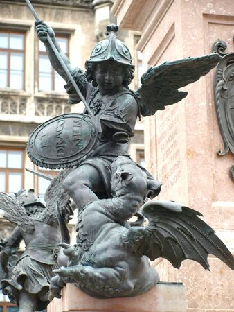 famine: putto et draconem - hunger or famine - munich -germany
