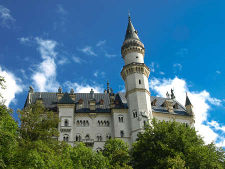 famous castle of ludwig - neuschwanstein - fussen - germany Stock Photo - 14148645