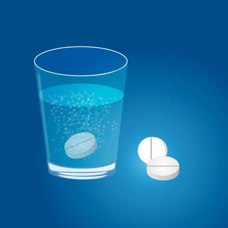 dissolved: Compressa sciolto in acqua
