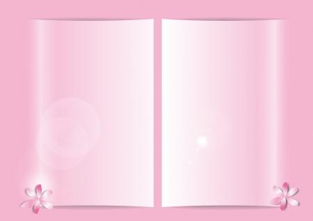floreal: soft  pink sheets floreal motive Stock Photo