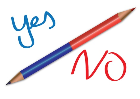 Corrective red and blue pencil