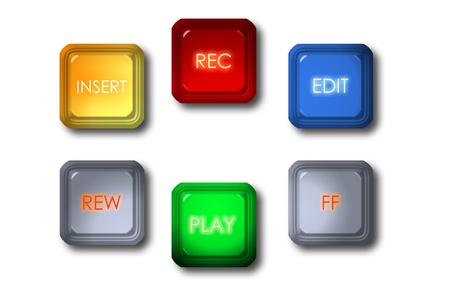 video editing  button Stock Photo