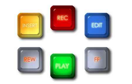 video-editing-knop Stockfoto