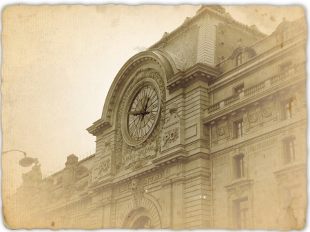 old postcard  d orsay museum