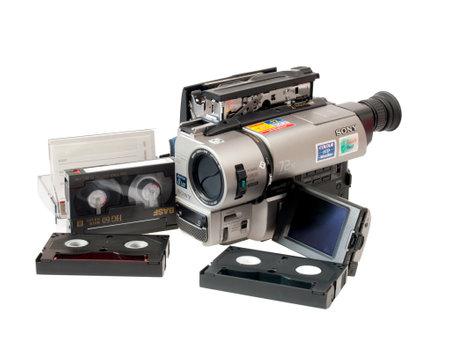 onbepaalde: TOKYO CIRCA juli 2011-Sony eindigt de productie van hardware 8mm. Het houdt niet op de productie van cassettes: je zult nog steeds in productie zijn voor onbepaalde tijd circa 2011 in Tokyo