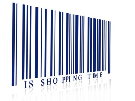 shopping time concept with bar code photo